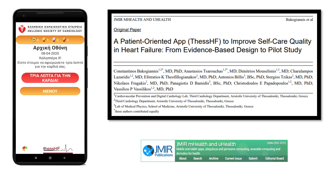 Thess-HF app design and study results published in JMIR mHealth-uHealth